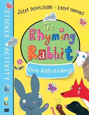 Book cover for The Rhyming Rabbit Sticker Book